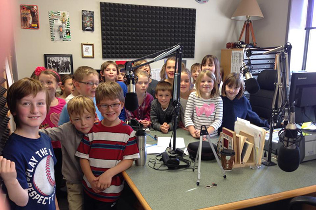 The kids in Jaclyn Uremovich's Grade 2/3 class had a field trip on Friday, November 20, to CKCR 106.1 FM's station in Alpine Village Mall, where each student shared their favourite moments during the holidays and why Christmas is important to them. This is the second year the that pupils from AHE have written poems or stories about the real meaning about the holiday and these guys happily posed for a photo in the studio. Their stories for the Rhyme Me Revelstoke program will be broadcast on December 1 and 24. Shaun Aquiline photo