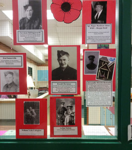 Students at Columbia Park Elementary School have been thinking of their ancestors who served in the First World War as the school prepares to mark Remembrance Day next week. Please click on the photo see a larger version of the image. Photo by CPE Student Reporter-Photographer Kaleb Perrault