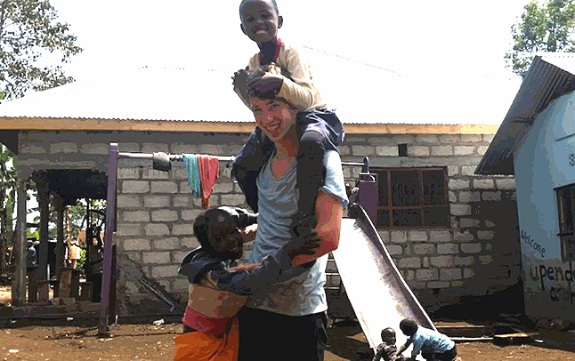 Revelstoke student Daniel Blackie has taken several weeks out of his Grade 12 studies to travel to Tanzania to work at the Upendo Face Orphanage. Submitted photo