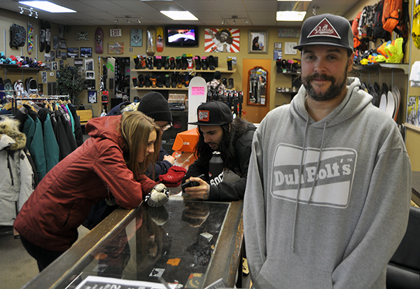 Society Snow and Skate's Karl Jost said sales have been brisk this winter and he was looking forward to not just a busy Moonlight Madness Sale, but a profitable winter overall. David F. Rooney photo