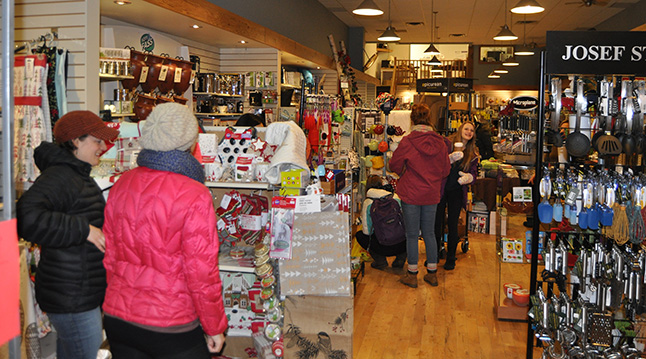 A steady stream of shoppers dropped in at Big Mountain Kitchen & Linen. David F. Rooney photo