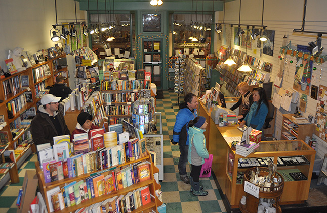 Grizzly Books & Serendipity Shop had a steady stream of customers... David F. Rooney photo