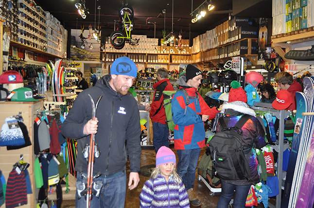 With winter most definitely settled in for the foreseeable future, many people were out looking for gear, in this instance, Skookum. David F. Rooney photo