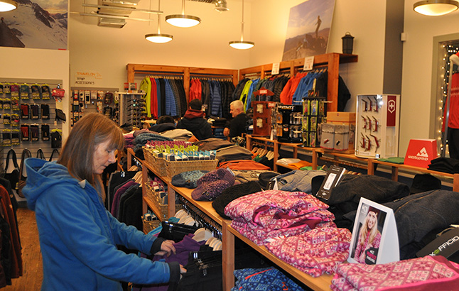 If you's got sinter sports gear maybe you wanted a new — and warm — winter wardrobe. Steven Corss' and Carolyn Gibson's shop, Revy Outdoors, likely had what you wanted. David F. Rooney photo