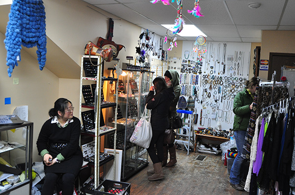 Customers trawled through this little shop on Connaught. David F. Rooney photo