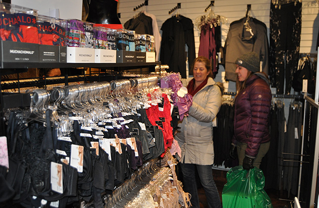 Suzanne Riegel and her daughter Sage were at Bette's Underthings & Clothing looking for, well, feminine things. David F. Rooney photo