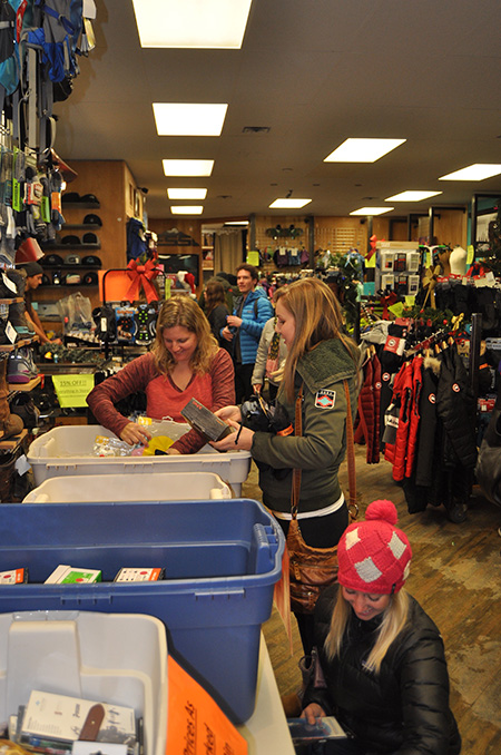 Liz Rorstad assists a custom at Freespirit Sports. If you need equipment, clothing or accessories Liz and her husband Elmer probably have what you want. David F. Rooney photo