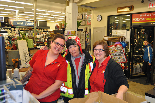 Allison, Gail aand Diana were having a good time at Home Hardware during Moonlight Madness. David F. Rooney photo