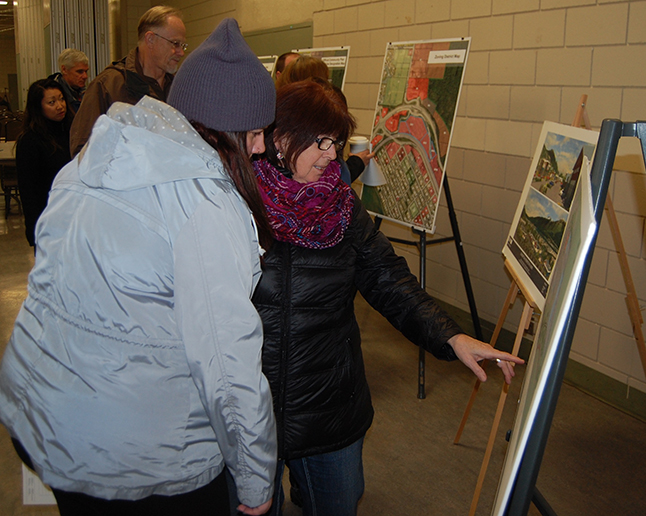 Any people were curious about what the proposed highway mall might look like if it is built. David F. Rooney photo