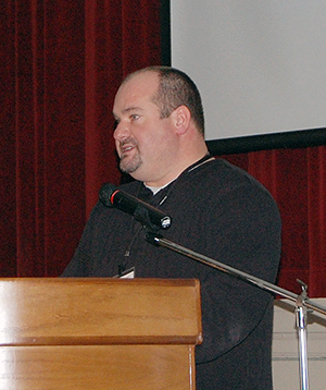 ean Strachan, the City's development services manager, talks about the zoning process. David F. Rooney photo