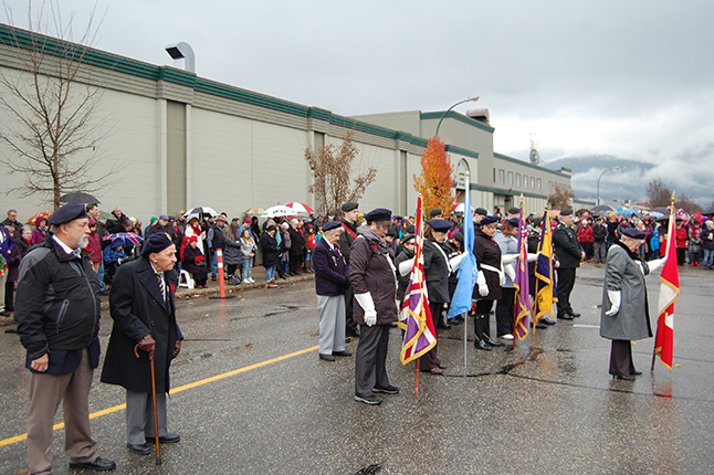 The number of war veterans and Royal Canadian Legion members has been declining, but our community still manages to hold a Remembrance Day parade to honour the Revelstokians who fell in the two world wars, Korea, Afghanistan and in peacekeeping operations abroad. David F. Rooney photo