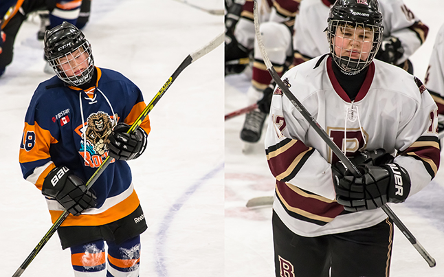 The 'Player Of The Game' Awards went to Rockies #18 Brendan Kruger and Grizzlies #12 David Kline. Jason Portras photo
