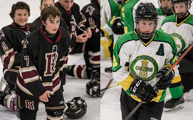 The 'Player Of The Game' Awards went to Oilers #16 John Stuart and Grizzlies #7 Calum Gribbon. Jason Portras photo