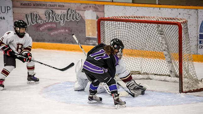 The Knights' only goal came in the 1st, but they came extremely close a number of times after that, like this one. Jason Portras photo