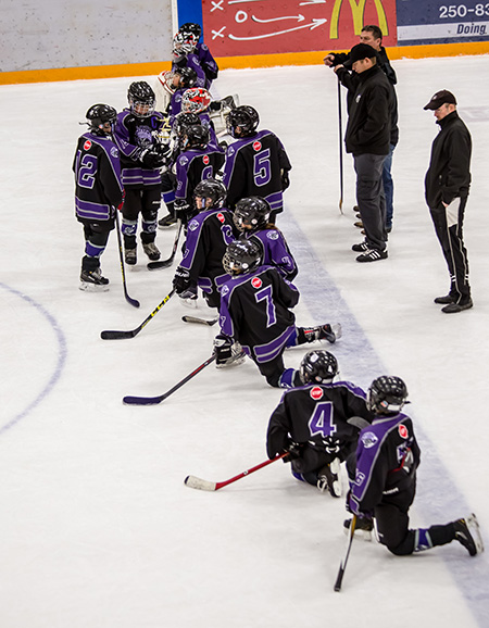 The North Okanagan Knights came away from the weekend with the Second Place trophy. Jason Portras photo