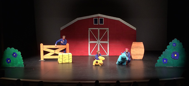 It was a fun-filled performance today at Revelstoke's Performing Arts Centre. Spot, based on the beloved books by author, Eric Hill, came alive on stage. Victoria Strange photo