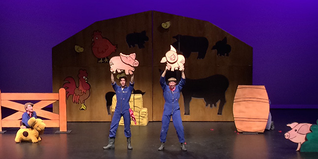 This little musical had everything young children would enjoy: a loveable dog (Spot), a blue hippo, and a clog-dancing farmer, to name a few. Victoria Strange photo