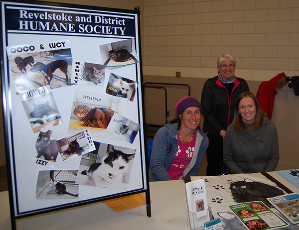 The Revelstoke and District Humane Society does terrific work with animals in distress. Here are three of the society's dedicated volunteers: Marika Koncek, Shannon Van Goor and Gail Piattelli. This is a good time to remind everyone that the RDH's traditional — and very cute and amusing — Pictures with Santa event is being held on Sunday, December 6, at the Curling Club next to the Forum rom 10 am to 4 pm. Bring your kids and your pets fr a photo with the holy old elf. Professional photographer John Morrison will be handling the camera work. Click on the link below to see th poster for this event. David F. Rooney photo