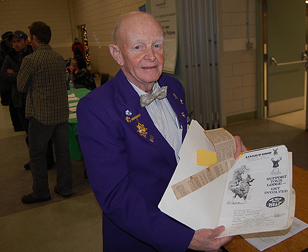 Jack Carten of the Revelstoke Elks Lodge No.453 has for decades been an active volunteer with a number of clubs and service organizations. He even won a ribbon in Calgary's first rodeo back in the 1980s. David F. Rooney photo