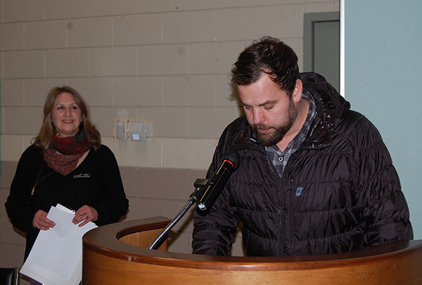 City Councillor Aaron stood in for Mayor Mark McKee and spoke about the importance of volunteering. He also introduced each of this year's Spirit Award winners. David F. Rooney photo