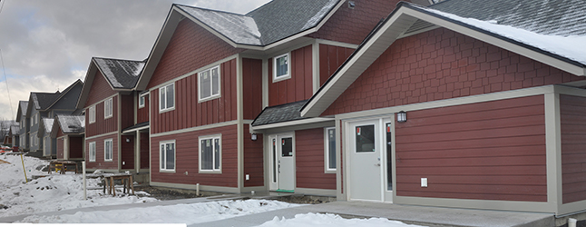 Revelstoke's affordable housing project on Oscar Street is almost done and directors of the Community Housing Society eagerly took members of the local news media on a brief tour of the facility on Wednesday, December 16. David F. Rooney photo
