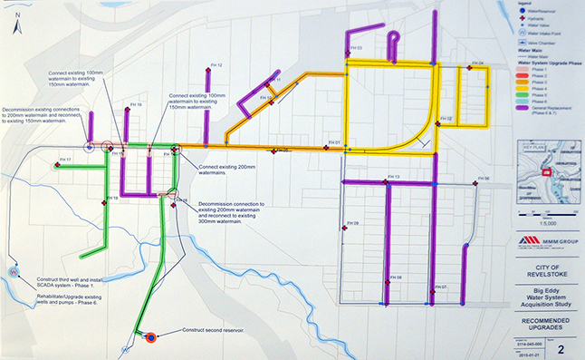 This map shows the extent of the work that needs to be done in the Big Eddy. Image courtesy of the City of Revelstoke
