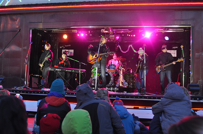 Jim Cuddy, Devin Cuddy and Kelly Prescott were the headliners for the Holiday Train this year. They put on an excellent show. Say what you want about the CPR they do throw a good party every Christmas. David F. Rooney photo