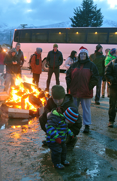 If you felt cold, and the low temperature did pierce a lot of young ones, there were handy bonfires where you could warm up. David F. Rooney photo
