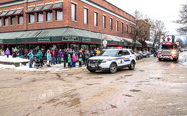 The RCMP and the Revelstoke Fire Department led the parade. Jason Portras photo