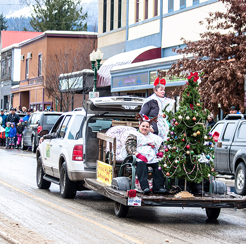 The Self-Advocacy Group's float was a comfy trailer and tree. Jason Portras photo