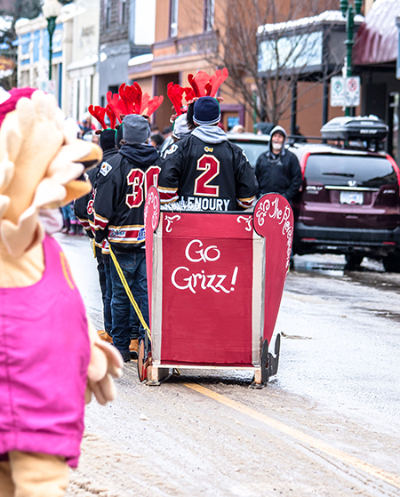 The Grizz Sled is off again. Go Grizz! Jason Portras photo