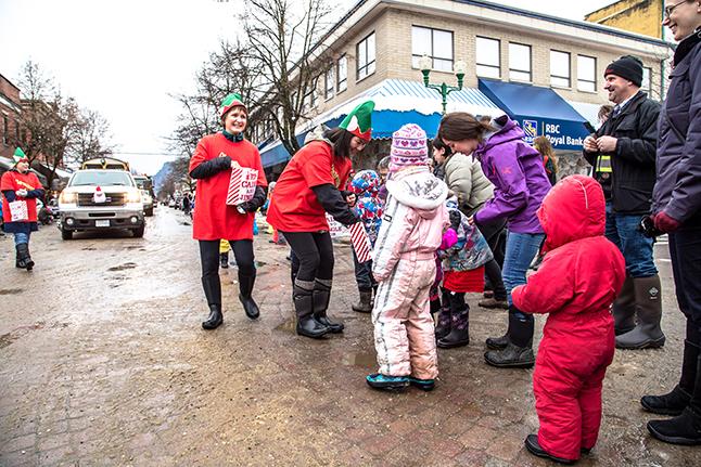The Pharmasave Elves hand out some good advice: 'Keep Calm & Jingle On!' Jason Portras photo