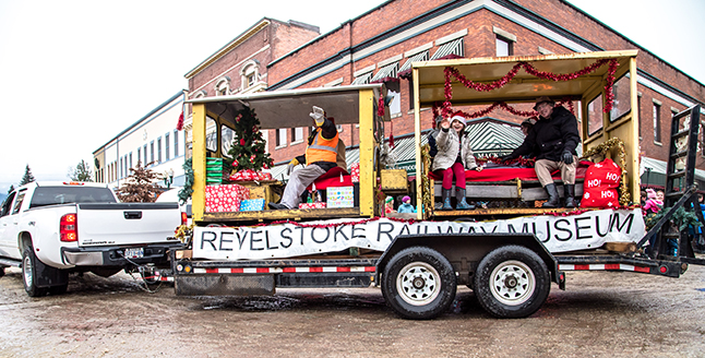 The Revelstoke Railway Museum put together two sweet train cars for their float. Jason Portras photo