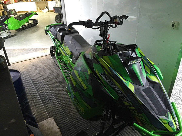 This green and black 2016 Arctic Cat Pro Lite snowmobile with Vehicle Identification Number 4UF16SNW3GT106701was stolen from the Frisby Ridge parking lot sometime between 4 pm on Tuesday, December 15, and 8:30 am on the following. If you have any information about this theft or knowledge of any other criminal act, please hesitate to contact the Revelstoke RCMP at 250-837-5255 or Crime Stoppers at 1-800-222-8477, or visit their website at www.revelstokecrimestoppers.ca. Photo courtesy of the Royal Canadian Mounted Police