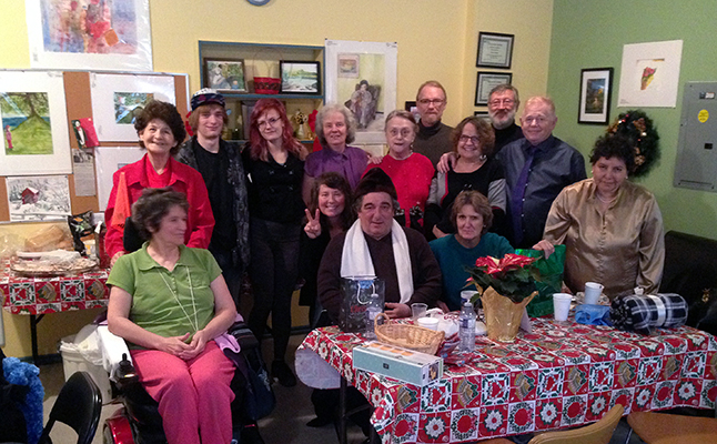 Members of the Revelstoke Awareness and Outreach Program (RAOP) met for a Christmas Party on Wednesday, December 16, and set us this picture. The group wishes all of their friends and neighbours a very Merry Christmas and a Happy New Year. Photo courtesy of Peter Waters