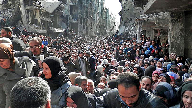 Photos of the situation on the ground in Syria are surreal. When you see something like this it's easy to understand why millions have fled the country. Photo courtesy of Rana Nelson