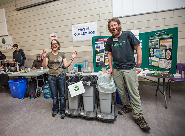 If you're gonna mind the waste-collection service at an event like the Carousel of Nations you had better have a sense of humour! Keri Knapp photo