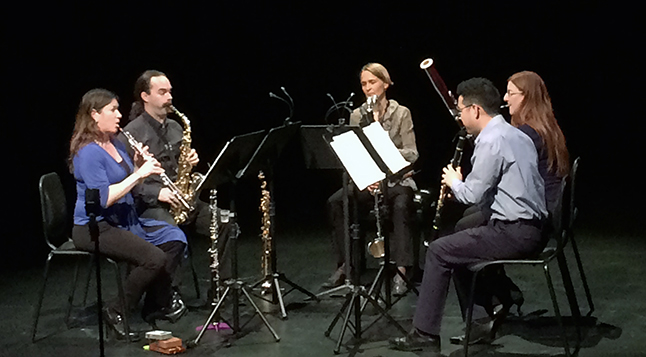 Kamloops' Cascadia Reed Quintet performed before a dedicated audience at the Revelstoke Performing Arts Centre on Friday night, January 22. Victoria Strange photo
