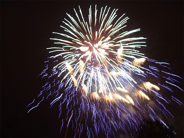 """Watch for gorgeous explosions like this one in our mountain skies on Febuary 6 and 13. Photo """"Feuerwerk Lichterfest STU 56"""" by I, NobbiP. Licensed under CC BY-SA 3.0 via Wikimedia Commons - https://commons.wikimedia.org/wiki/File:Feuerwerk_Lichterfest_STU_56.JPG#/media/File:Feuerwerk_Lichterfest_STU_56.JPG"""