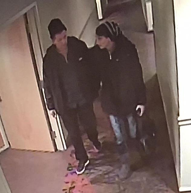 Here's another view of the suspects. Surveillance video frame courtesy of Revelstoke Crime Stoppers and the RCMP