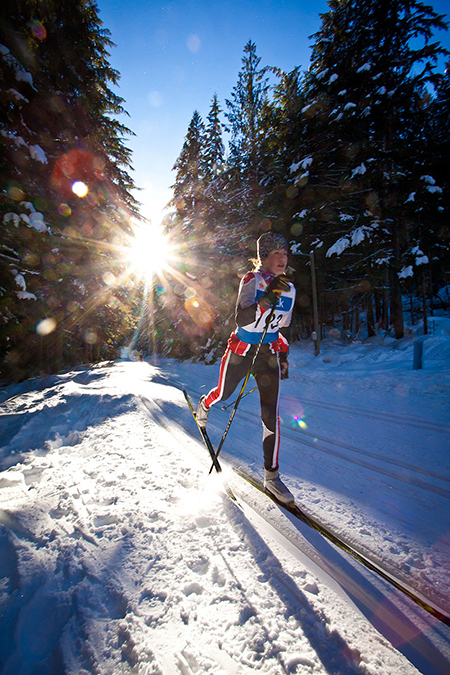 Racer with a sun-star background. Rob Buchanan photo