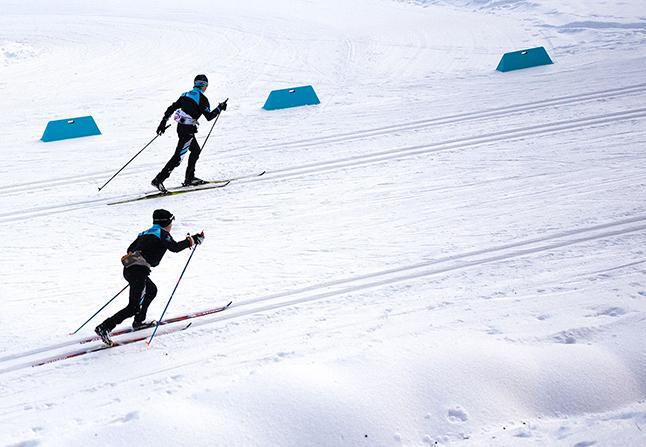 Racers on the hill. Rob Buchanan photo