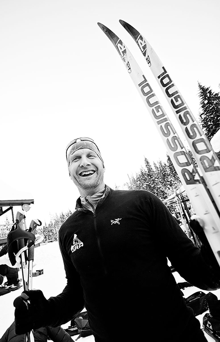 Revelstoke's Andrew Shepard is all smiles after his race Rob Buchanan photo