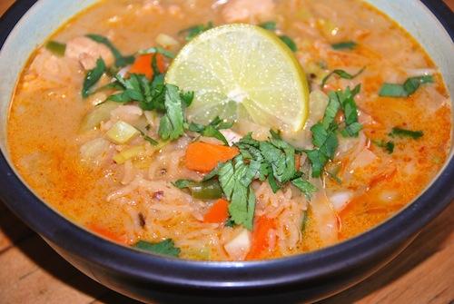 rez Thai chicken rice soup