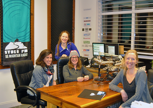 Francophones and Francophiles rejoice! Marie Duchesneau (left), Sarra Dupuis, Julie Beauce and Elodie Brideau are the hosts of Stoke FM's hour-long program, The French Quarter, which treats listeners to dynamic French-language music scene every Sunday evening at 8 pm. David F. Rooney photo