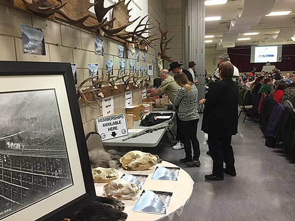 There was a lively little raffle for some pretty cool firearms. David F. Rooney photo