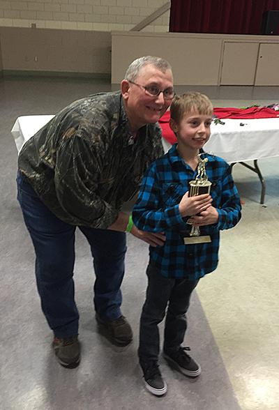 Thomas Lenzi took second place in the juniors' dolly category with a 6 lb 10 animal. David F. Rooney photo