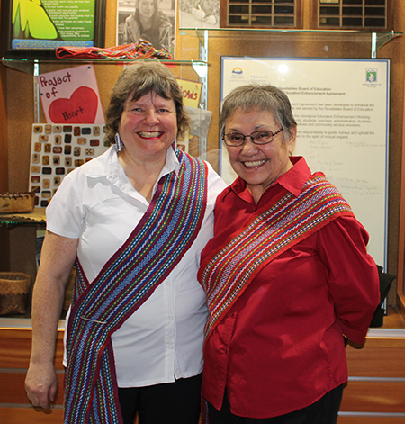Brenda Percell and Marguerite Verhaeghe were two valuable First Nations members of the original Aboriginal Enhancement Committee. They returned to Revelstoke for the signing of the new agreement. Photo courtesy of Brenda Percell
