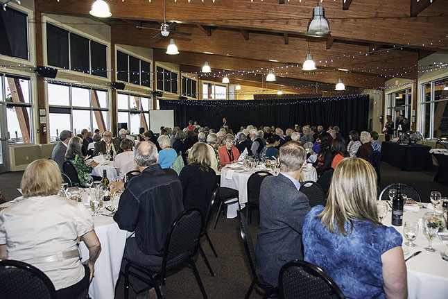 Attendees at the British Columbia Book Awards Banquet at RMR's Revelation Lodge on Saturday evening. The banquet was part of the BC Historical Federation Conference held here in Revelstoke May 26-28. Kip Wiley photo