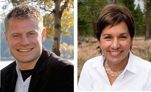 Gerry Taft and Spring Hawes — both from Invermere — are competing to become the next provincial NDP candidate for Columbia River-Revelstoke. Revelstoke Current file photos